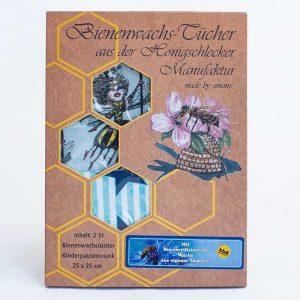 Bienenwachs-Tücher 2er Set Edition Bienenkönigin & Sterne