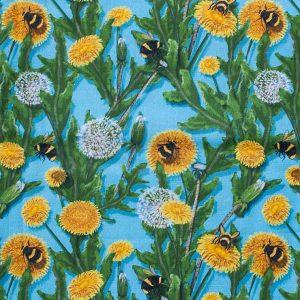Bienenwachs-Brottuch Edition Bienen im Löwenzahn
